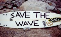 Save the wave surfboard