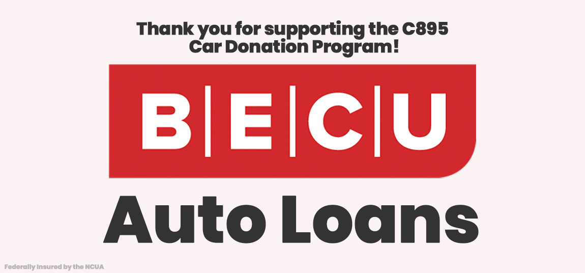 White and red clickable ad for BECU Bank Autoloans