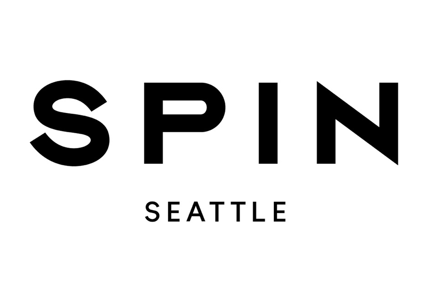 "White background with the black bold words ""SPIN Seattle"""
