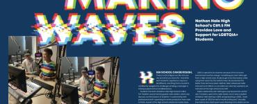 Auden and Evann in Seattle Pride Magazine