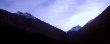 """White Pass"". Klondike Gold Rush NHP. View from Klondike Highway, Alaska. Credit: Klondike Gold Rush National Historical Park, Park Cultural Landscapes Program, October 2015, public domain."